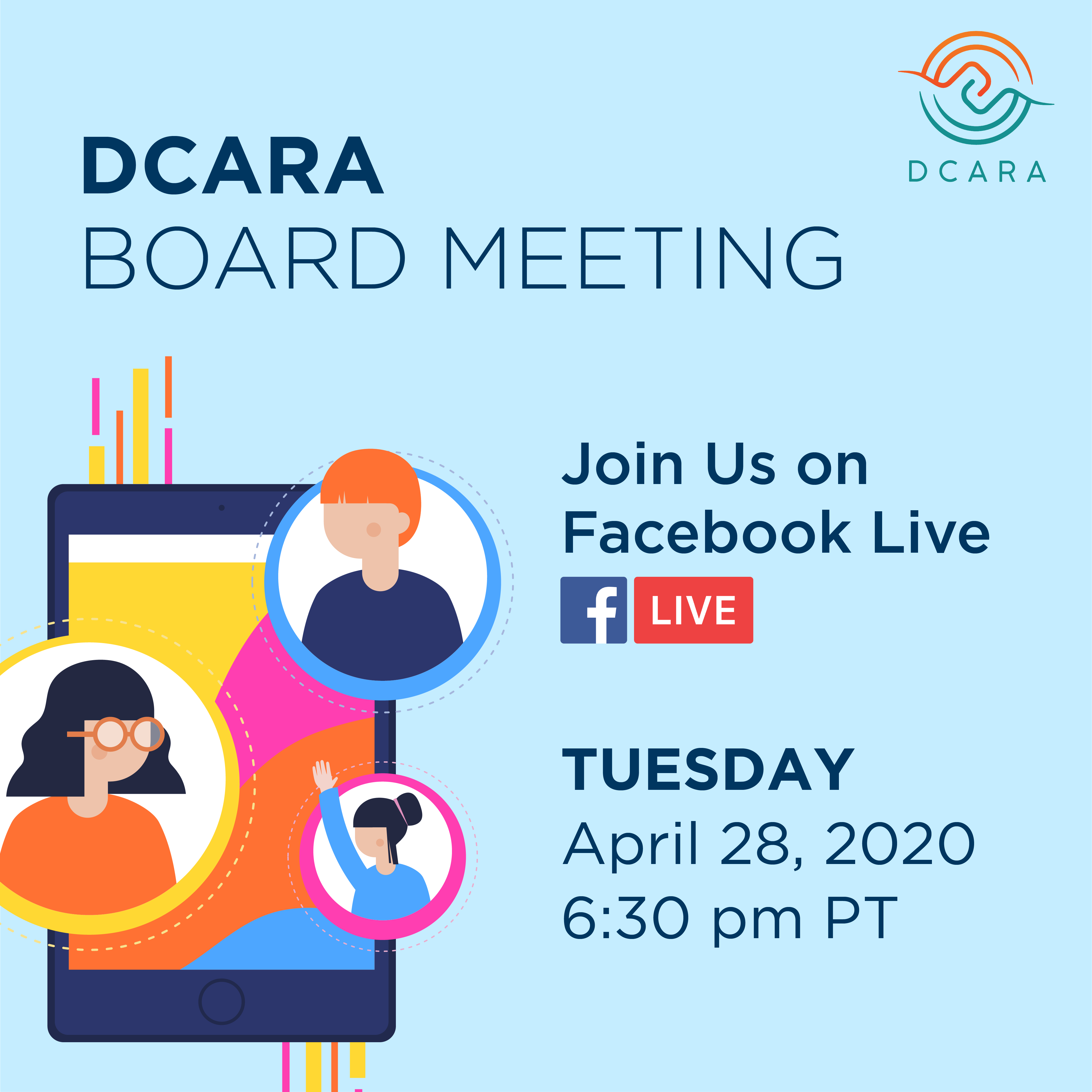DCARA Board Meeting on Tuesday, April 28 2020