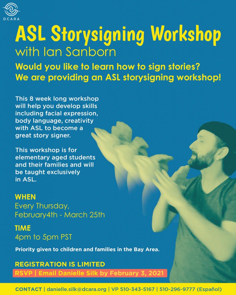 ASL Storytelling Workshop Flyer